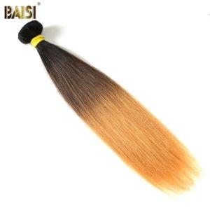 BAISI Haar Brasilianische Gerade Remy Haar Ombre Haar Extensions 1B 4 27 Haar Weben 100 Menschlichen