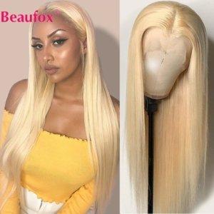 Beaufox Malaysische Gerade 613 Spitze Front Per cken 13x4 Spitze Front Menschliches Haar Per cken Transparent