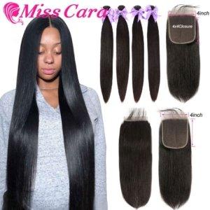 Peruanische-Gerade-Haar-Bundles-Mit-x-Verschluss-Verpassen-Cara-Haar--Menschliches-Haar---Bundles